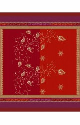 Bassetti-Plaid-Bernina-Satin-rot