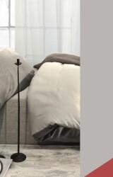 Pfeiler-Bettwäsche-Lido-Satin-rot-grau