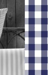 Vichy-Bettwäsche-marine-blau-Classic-Karo