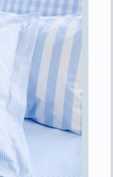 Vichy-Bettwäsche-Classic-Stripes-bleu-Mako-Perkal