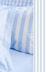 Vichy-Bettwäsche-Classic-Stripes-small-bleu-Mako-Perkal