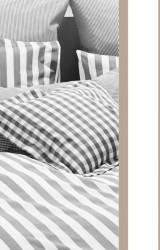 Vichy-Bettwäsche-Classic-Stripes-braungrau-Mako-Perkal