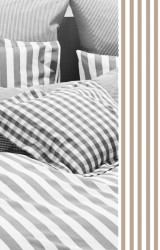 Vichy-Bettwäsche-Classic-Stripes-small-braungrau-Mako-Perkal