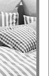 Vichy-Bettwäsche-Classic-Stripes-anthrazit-Mako-Perkal