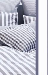 Vichy-Bettwäsche-Classic-Stripes-marine-blau-Mako-Perkal