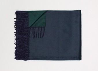 Begg-Kashmir-Plaid-Arran-Reversible-Navy-Tartan-Green