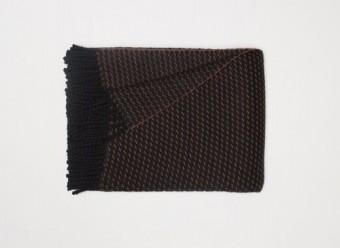 Begg-Kashmir-Plaid-Clyde-Honeycomb-Black-Vicuna