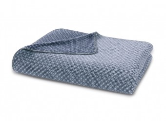 Biederlack-Plaid-Close-up-blue