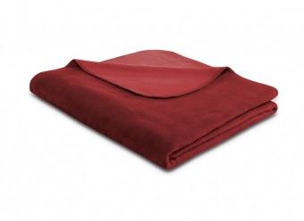Biederlack-Plaid-Duo-Cotton-purpur-samtrot