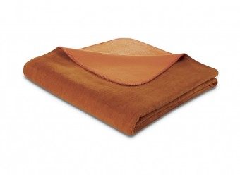 Biederlack-Plaid-Duo-Cotton-rotfuchs-terracotta