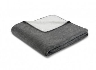 Biederlack-Plaid-Duo-Cotton-Melange-anthrazit-silber