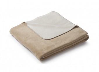 Biederlack-Plaid-Duo-Cotton-Melange-creme-natur