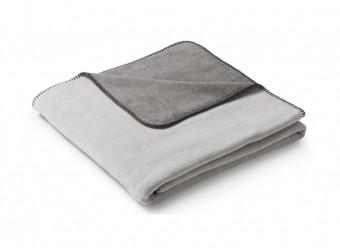 Biederlack-Plaid-Duo-Cotton-Melange-natur-graphit