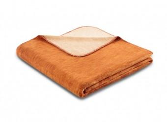 Biederlack-Plaid-Duo-Cotton-Melange-ocker-beige