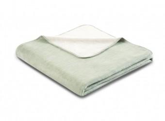 Biederlack-Plaid-Duo-Cotton-Melange-salbei-natur