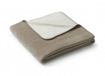 Biederlack-Plaid-Duo-Cotton-Melange-sand-natur