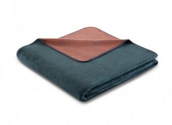 Biederlack-Plaid-Duo-Cotton-Melange-smaragd-siena