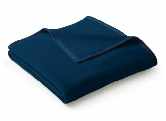 Biederlack-Plaid-Uno-Cotton-dunkelblau