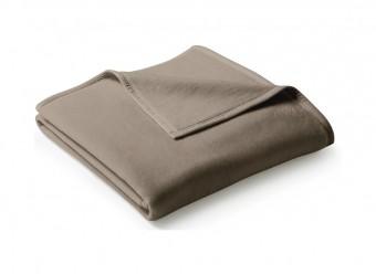 Biederlack-Plaid-Uno-Cotton-haselnuss
