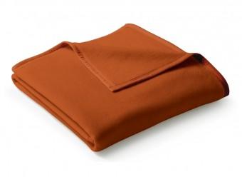 Biederlack-Plaid-Uno-Cotton-terracotta