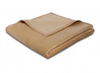 Biederlack-Plaid-Uno-Soft-kamel