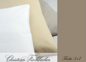 Christian-Fischbacher-Bettwäsche-Uni-Satin-Braunbeige
