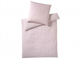 Elegante-Bettwäsche-Classic-Stripes-rosa