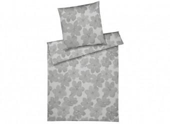Elegante Bettwäsche Generous Jacquard silber grau