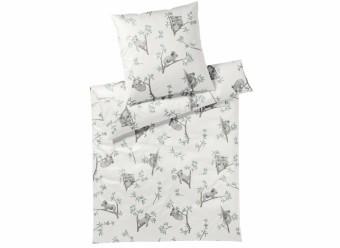 Elegante-Bettwäsche-Lazy-Koala-Satin-weiß