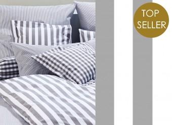 Elegante-Bettwäsche-Classic-Stripes-silber