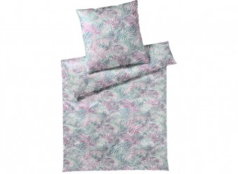 Elegante-Bettwäsche-Palm-Leaves-Satin-pink