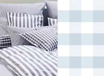 Elegante-Kinderbettwäsche-Classic-Karo-hellblau