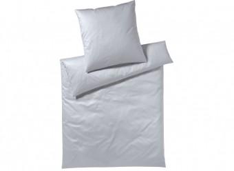 Elegante-Bettwäsche-Solid-Satin-silber