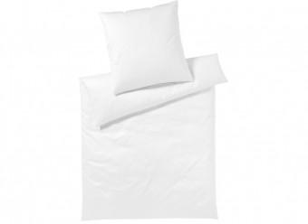 Elegante-Bettwäsche-Solid-Satin-weiß