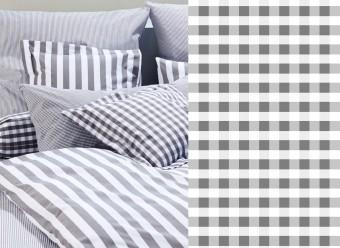Elegante-Kinderbettwäsche-Classic-Karo-small-silber