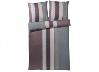 Joop!-Bettwäsche-Cornflower-Stripes-Satin-deep-wine