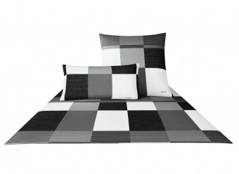 Joop!-Bettwäsche-Plaza-Squares-Satin-schwarz-weiß