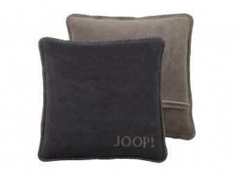 Joop!-Dekokissen-Uni-Doubleface-anthrazit-taupe