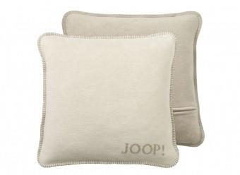 Joop!-Dekokissen-Uni-Doubleface-pergament-sand