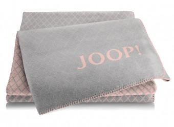 Joop!-Plaid-Diamond-rose-graphit