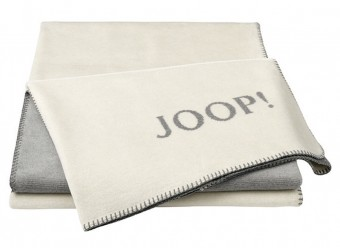 Joop!-Plaid-Melange-Doubleface-natur-silber
