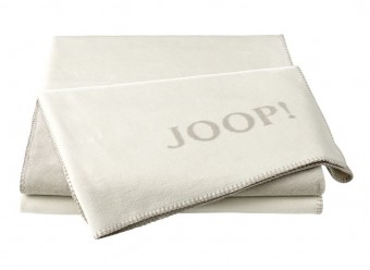 Joop!-Plaid-Uni-Doubleface-ecru-feder