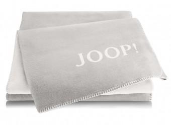 Joop!-Plaid-Uni-Doubleface-rauch-ecru
