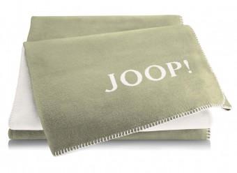 Joop!-Plaid-Uni-Doubleface-salbei-ecru