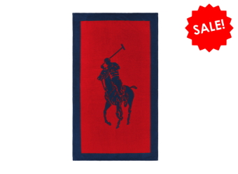 Ralph Lauren Strandtuch Polo red navy