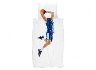 Snurk Bettwäsche Basketballspieler Perkal blau