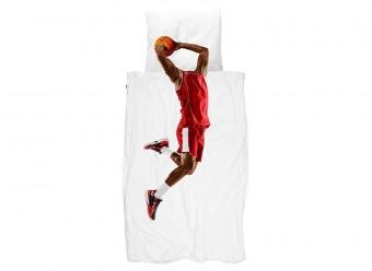 Snurk Bettwäsche Basketballspieler Perkal rot