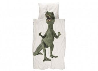 Snurk-Bettwäsche-Dinosaurier-Perkal