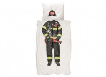 Snurk-Bettwäsche-Feuerwehrmann-Perkal