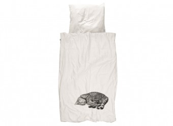 Snurk-Bettwäsche-Katze-Perkal